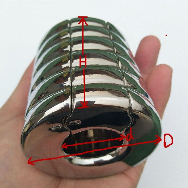 Joueur Senior pénis manches Scrotum pendentif lourd en acier inoxydable testicule circulaire anneau rainure forme pénis pendentif anneau Sex Toy
