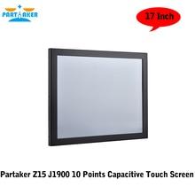 17 Дюймов Intel J1900 Quad Core 10 Баллов Емкостный Панель PC Сенсорным Экраном С LPT Параллельный Порт