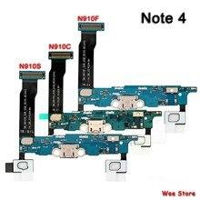 Chargeur de carte USB Original, câble flexible, pour Samsung Galaxy Note 4 N910A N910K N910L N910C N910S N910G