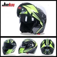 2017 New JIEKAI Double lens Flip Up Motorcycle helmet JK105 Open Face Motorbike helmets made of ABS have 8 color Size M L XL XXL