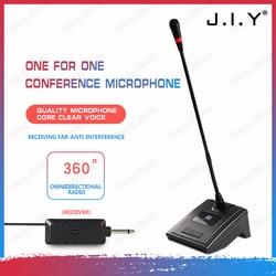 JIY Condenser Gooseneck Wireless Microphonesdesktop High sensitivity receiver Multifunction Microphone for School speech meeting