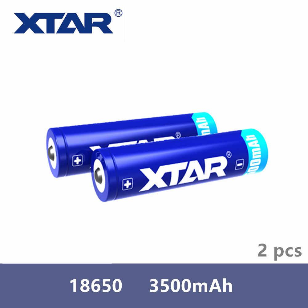 2 قطعة Xtar قابلة للشحن 18650 3500mAh 3.7 فولت بطارية محمية ل مشاعل متوافق مع MC1 MC2 PB2 VC2 VC4 SV2 شاحن