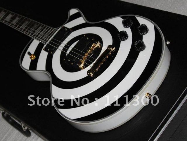 Musical Instruments very beautiful  Black & white Electric guitar.jpg
