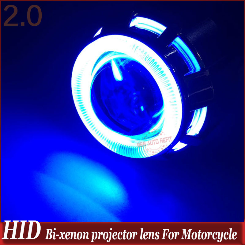 2 inch High/Low Hid Bi Xenon Projector Lens Headlight Kit CCFL Devil Eye For Motorcycle For Car Headlight HID Headlamp new m803 2 5 car motorcycle universal headlights hid bi xenon projector kit and m803 hid projector lens for free shipping
