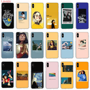 Lavaza Hard-Case Van Gogh Xr-Cover Aesthetic Apple iPhone Mona Lisa 8-Plus Xs Max 5S