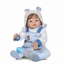 Очаровательные NPK 57 см Bebe Reborn мальчик кукла ручной работы полный Силиконовый Reborn Baby Doll Bonecas в плюшевой одежде модные игрушки для девочек