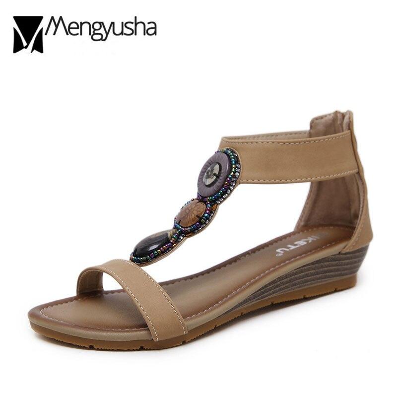 Beige Colorido Cordón 2018 Marino Plataforma Sandalias Plataformas negro  Bajos Brillo Rhinestone Mujeres correa Zapatos Mujer azul Tacones ... 19ca61cc99b8