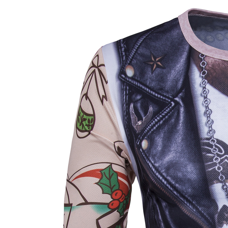 Funny Vest Tattoo 3d Printing T Shirt Men/Women 2017 Brand New Long Sleeve T Shirt Homme Casual Camisetas 3D Print T-shirt Mens