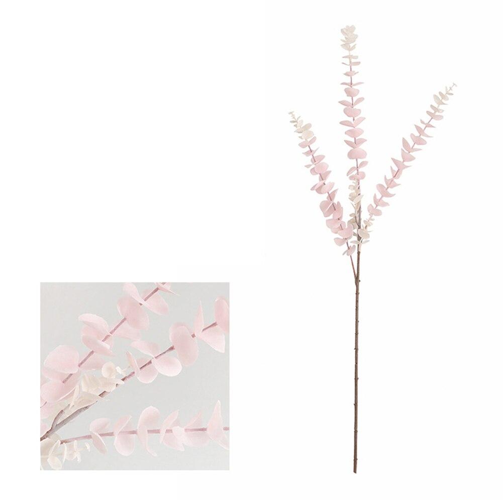 Искусственные растения Моделирование Пластиковые листья эвкалипта поддельные цветы