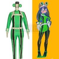 Anime My Hero Academia Asui Tsuyu Boku no Hero Academia Cosplay Costume Custom Made Free Shipping