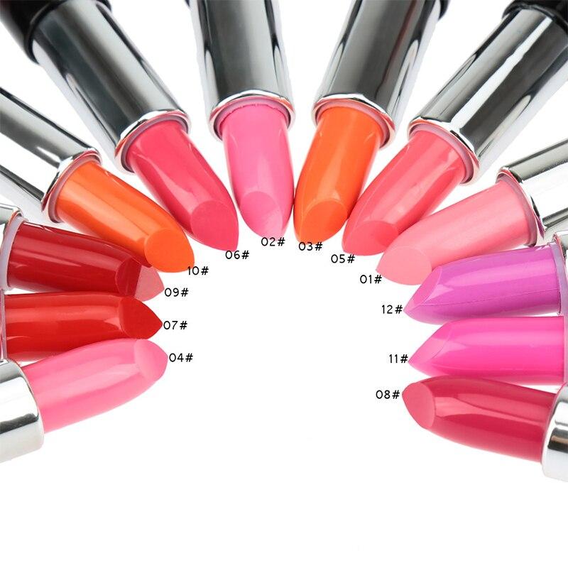 1 PCS Batom Creamy Velvet Matte Rouge rouge a levre matte Lipstick 12 Colors Makeup Nude Kiss Proof Long Lasting Lips Fashion