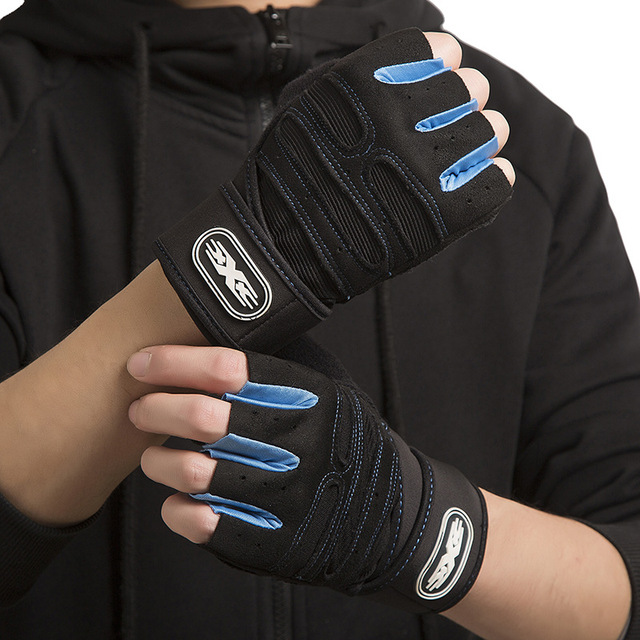 M-XL Gym Gloves Heavyweight Sports Exercise Weight Lifting Gloves Body Building Training Sport Fitness Gloves Crossfit Equipment 5