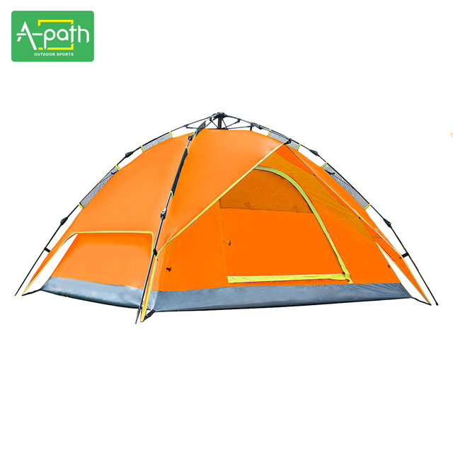 Outdoor Camping Hiking Winter Tents 3 4 Person Sun Shelter Windproof  Waterproof Automatic Folding Beach Tent c366aea24