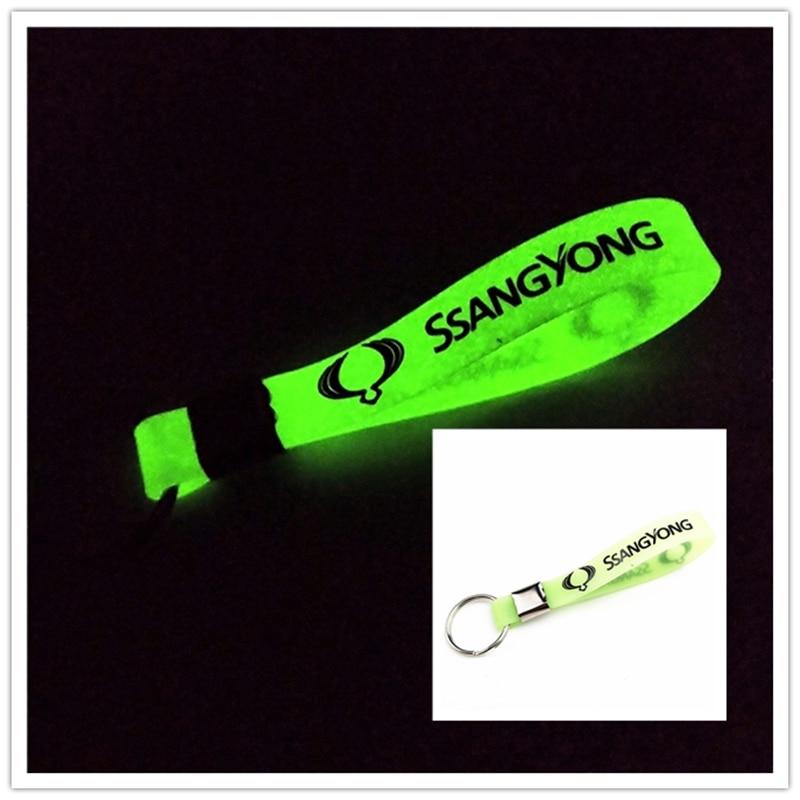 Luminous Car keyring Car Case for Rexton Korando accessories Motorcycle Automobiles car styling