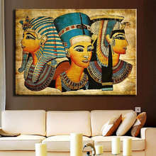 Modern Egyptian Pharaoh Canvas Art Picture Oil Painting For Home Decoration