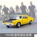 Fast & Furious 1969 Dodge Challenger MOTOR MAX 1:24 Paul Americano modelo de Simulación de aleación de coche coche deportivo