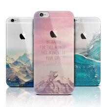 Ультра Тонкий Мягкий Силиконовый Моды Прозрачная Задняя Для iPhone 5 5S SE 6 6 S 7 Плюс Чехол коке fundas капа