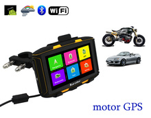 5 дюймов Водонепроницаемый мотоцикл GPS Навигации с bluetooth AV-IN FM WIFI IPS 854*480 экран сопротивление