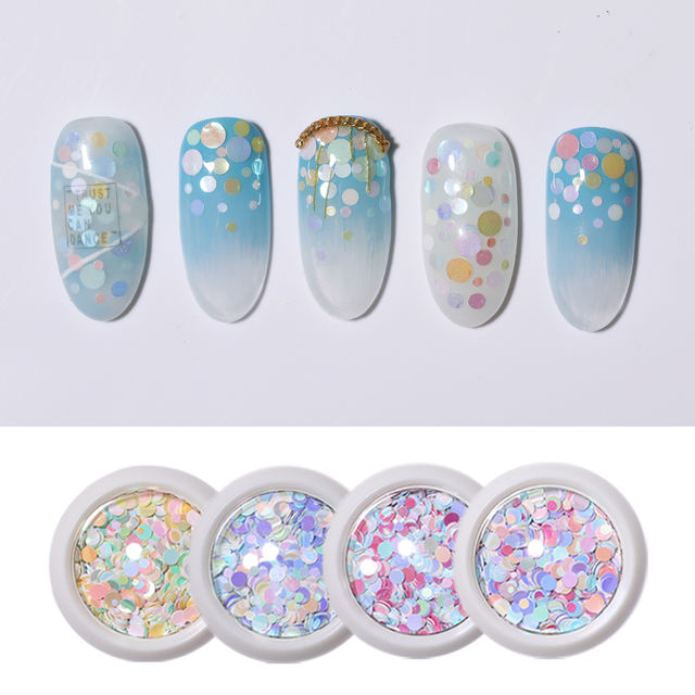 1g Colorful Nail Sequins