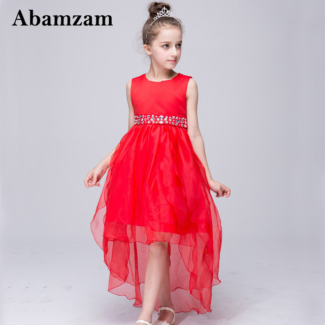 New S Clothing Children Princess Dresses For Lace Long Tail Wedding Evening Dress Summer Fashion