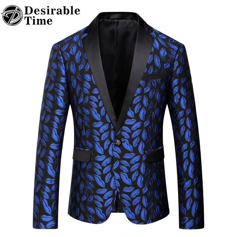 Desirable Time Slim Fitted Blazers Men Suit Jacket Costumes