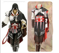 Anime Role Play Clothing Prop Assassin S Creed II Ezio Auditore Da Firenze Black Edition Halloween