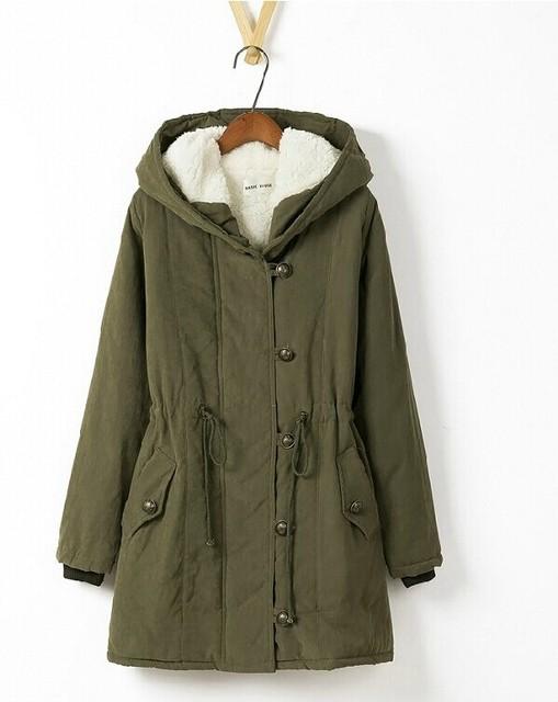 Forro de lã de carneiro fur Hoodies das senhoras casacos de inverno quente longo casaco casaco de algodão parkas térmicas frete grátis