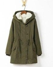 Ягнят шерстяной подкладкой женщин толстовки женские шубы зимой теплый длинное пальто куртки хлопка одежды тепловые парки бесплатная доставка