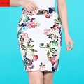 Summer Style Pencil Skirt Women High Waist Skirts Vintage 2016 New Fashion Elegant Bodycon Floral Print Mini Skirt Female A80587