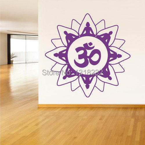 wall decal buddha india indian om ganesh god wall sticker yoga room