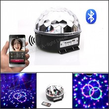 9 LED Remote Control Bluetooth MP3 Crystal Magic Ball Led Stage Lamp Disco Laser Light Party Light Sound Control Christmas KTV