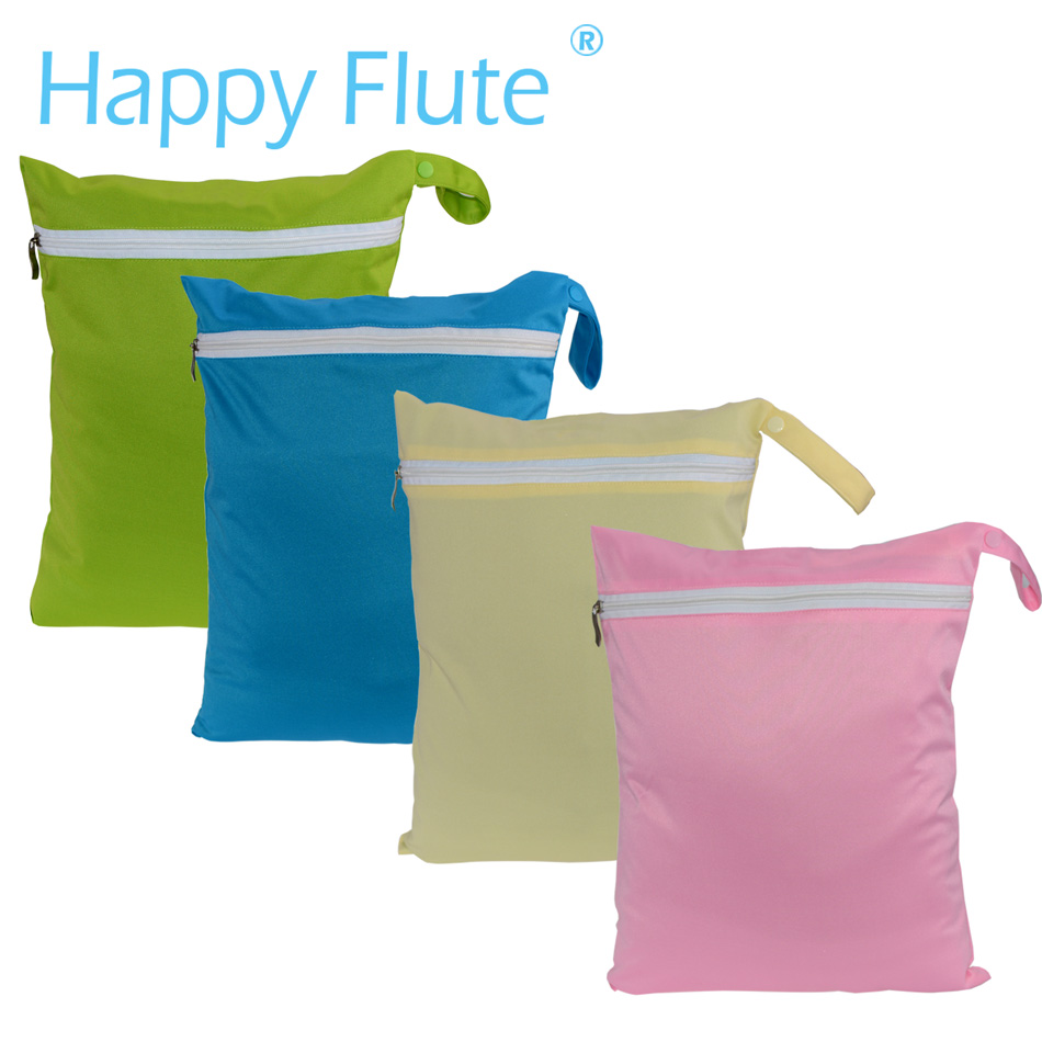 Happy Flute Reusable Waterproof 30*36cm Wetbag For Cloth Diaper 8 Colors Are Avilab
