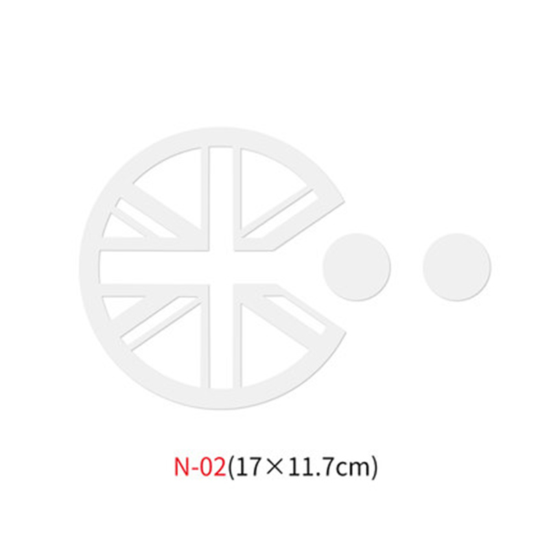 Различные автомобильные наклейки Union Jack для Mini Cooper One S JCW Countryman Clubman F55 F56 R55 R56 R60 F60 автомобильные аксессуары - Название цвета: N-02