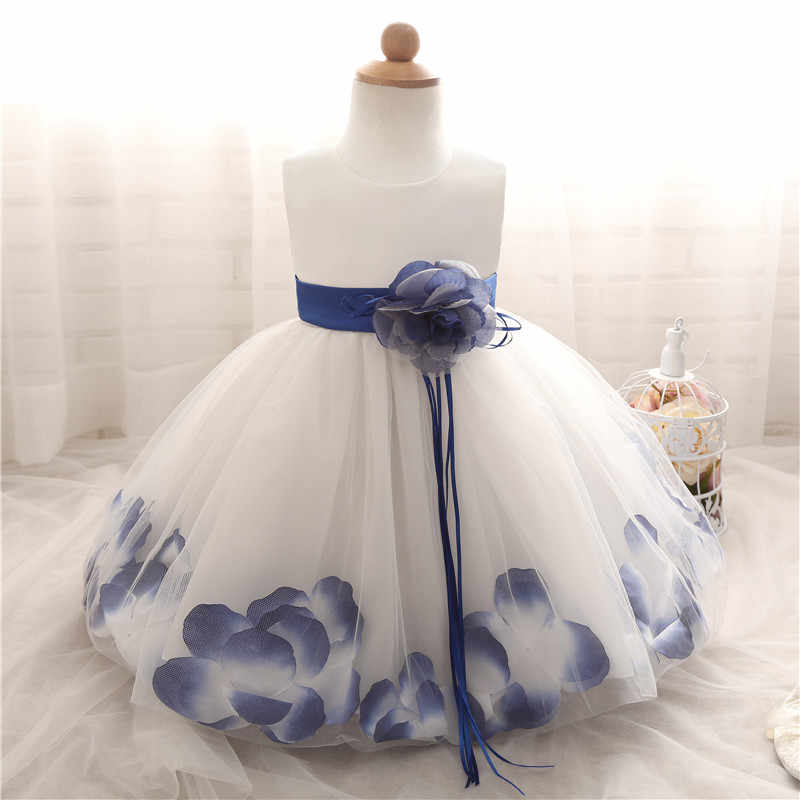 3 24 Meses Ropa De Bebé Niña Pétalos De Flores Gran Arco Princesa Vestido De Fiesta Pequeño Bebé Niños Ropa Vestido De Bautismo Vestidos Para Bebes