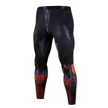 Высокое качество нового Мужская Колготки 3D татуировки Супермен железный человек Бодибилдинг Бег Фитнес ММА узкие лосины-стрейч, брюки