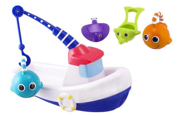Candice guo! la más nueva llegada Divertido Barco De Pesca juego de regalo de cumpleaños del juguete plástico educativo bebé de juguete de baño incursionar 1 unid