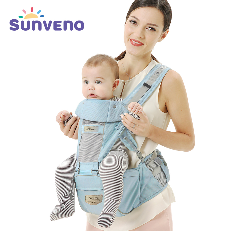 New SUNVENO Baby Carrier Sling Breathable Ergonomic Baby Hipseat Kangaroo Carrier Backpack for Newborn Infant Toddler 2016 hot portable baby carrier re hold infant backpack kangaroo toddler sling mochila portabebe baby suspenders for newborn