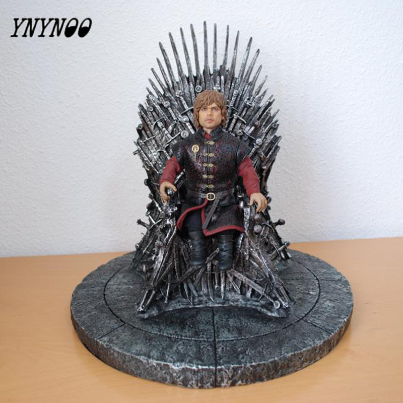 YNYNOO 17cm The Iron Throne Game Of Thrones A Song Of Ice And Fire Figures Action Figures One Piece Action Figure Toys game of thrones action figure toys sword chair model toy song of ice and fire the iron throne desk christmas gift 17cm