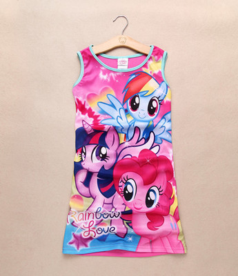 2016 Spring baby girls my Fashion princess flower dress summer casual for little kids children ponies roupas infantil meninas basiс baby платье распашонка my little flower