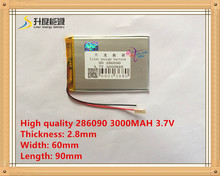 3.7V 286090 high-capacity lithium polymer batteries 3000MAH battery Universal Rechargeable Battery