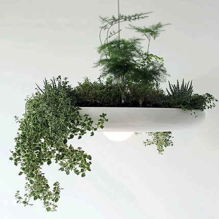 Nordic Opknoping Tuin In De Lucht Droplight Wit Plant Pot Hanglampen ...
