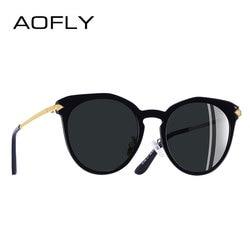 AOFLY BRAND DESIGN Polarized Sunglasses Women Arrow Cat Eye Sunglasses Metal Legs Shades Gafas de sol A136