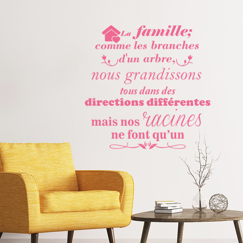 Stickers Family Like Branches Of A Tree Vinyl Wall Art Decal Living Room Home Decor Poster French Quote House Decoration in Wall Stickers from Home Garden