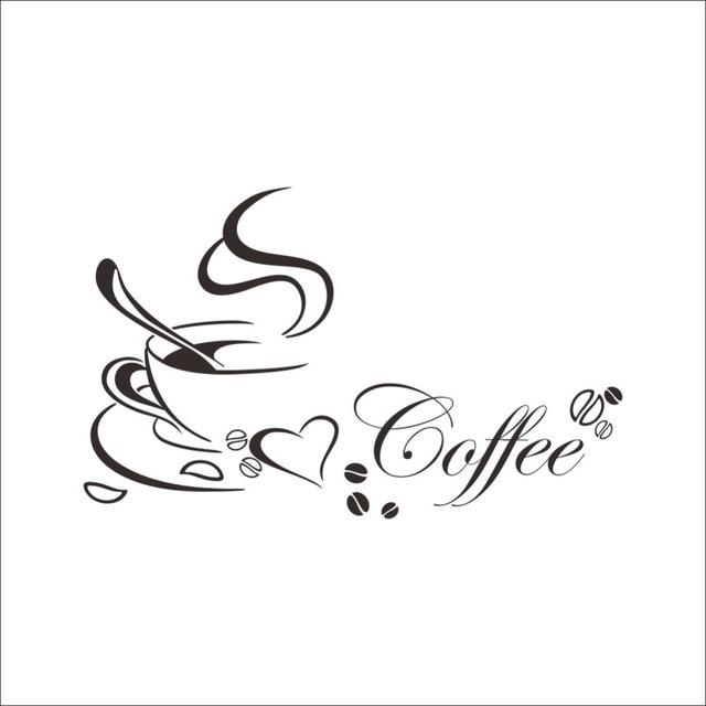 Coffee Heart Vinyl Quote Wall Sticker 6