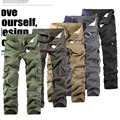 2016 New Arrival outside Casual Men's Military Pants Army Cargo Pants Men Overalls More Than A Pocket
