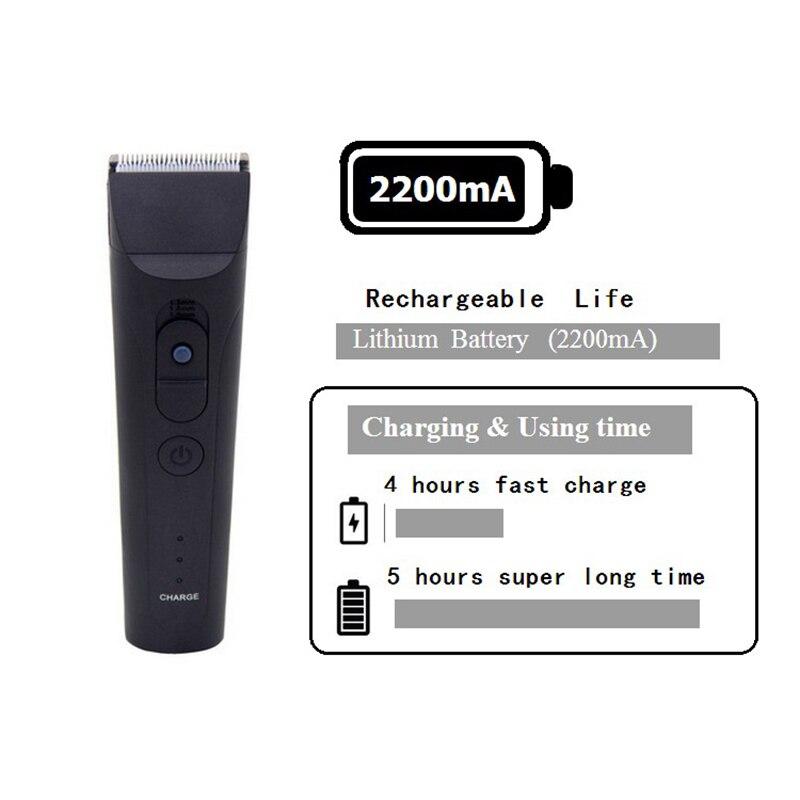 CHJ tondeuse tondeuse 7 niveaux étanche Rechargeable rasoir électrique 4 heures utilisation tondeuse à barbe Machine de découpe - 4