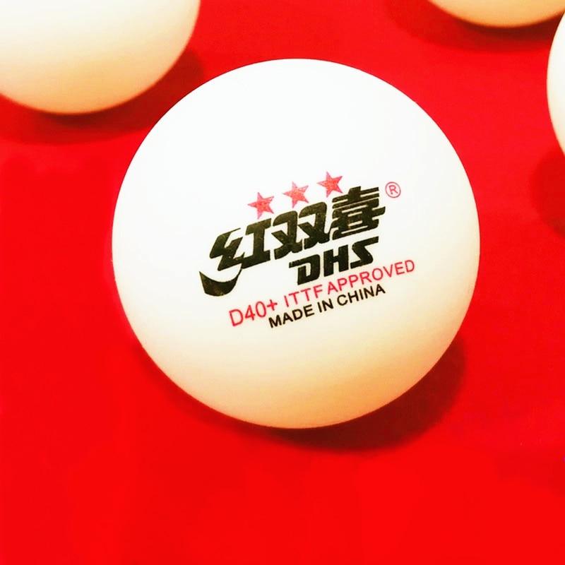 DHS 30 balls 60 balls table tennis balls Original 3 star D40+ seamed new material ABS 40 plastic ping pong balls poly