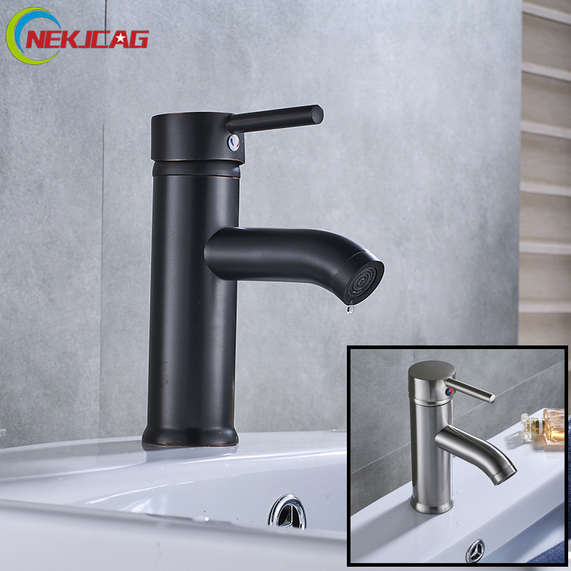 Bathroom Basin Faucet ORB Brushed Nickel Mixer Faucet Single Handle Faucets