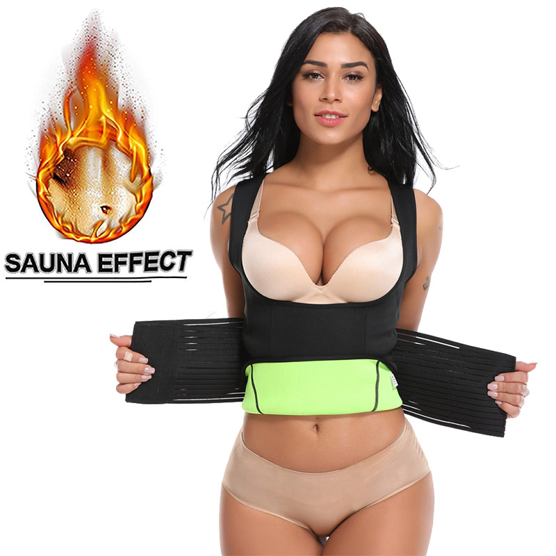 Miss Moly Waist Trainer Neoprene Sauna Suit Tank Top Vest Body Shaper Corset For Weight Loss Waist Trimmer Shapewear Underwear