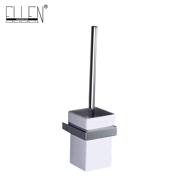 square brush - Toilet Brush Wall Square Toilet Brush Holder With Black Toilet Brush With glass Cup Household Products  Bath Accessory E81888